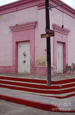 Photograph - Pink House On The Corner Todos Santos Mexico by John  Mitchell