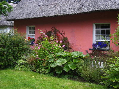 Photograph - Pink Irish Cottage by Bonnie Myszka