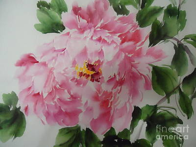 Art Print featuring the painting Pink King---1 by Dongling Sun