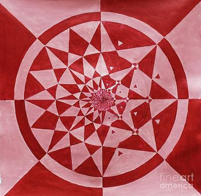 Optical Illusion Painting - Pink Kundli by Sumit Mehndiratta