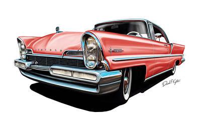 Pink Lincoln Premier  Art Print by David Kyte