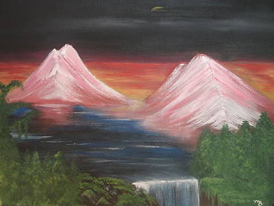 Painting - Pink Mountains by Melanie Blankenship