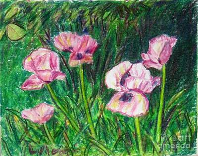 Painting - Pink Poppies by Laurie Morgan