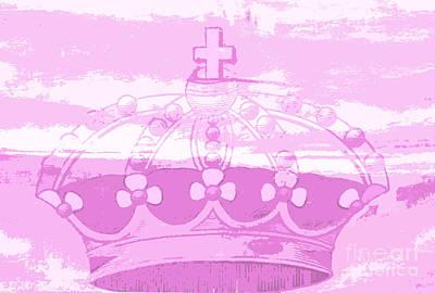 Surtex Licensing Mixed Media - Pink Princess Crown Art by ArtyZen Kids