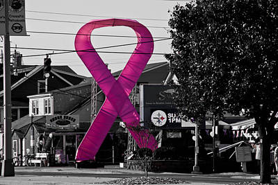 Photograph - Pink Ribbon For Breast Cancer Awareness by Trish Tritz