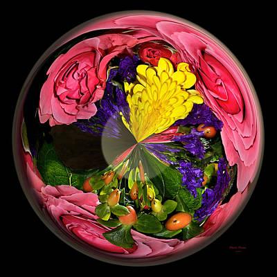 Pink Rose Globe Art Print