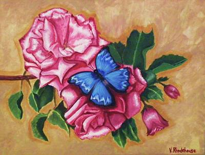 Painting - Pink Rose Petals by Victoria Rhodehouse