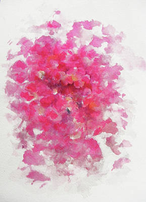 Flower Pink Fairy Child Painting - Pink Rose by Rachel Christine Nowicki