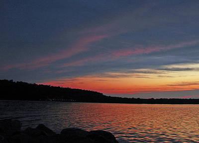 Sun Photograph - Pink Sky At Night by LeeAnn McLaneGoetz McLaneGoetzStudioLLCcom