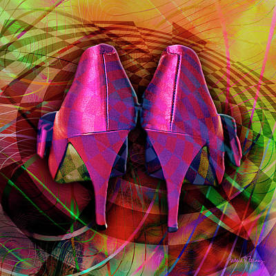 Digital Art - Pink Stilettos by Barbara Berney