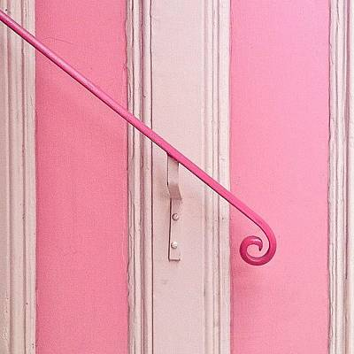 White Photograph - Pink Stripes by Julie Gebhardt
