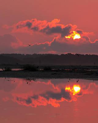 Photograph - Pink Sunrise by Alan Raasch