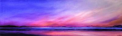 Painting - Pink Sunrise. by Jan Farthing