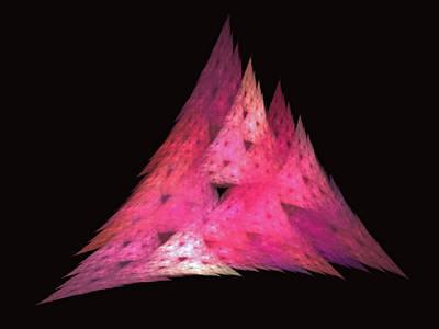 Pink Triangles Art Print by Lynn Bolt
