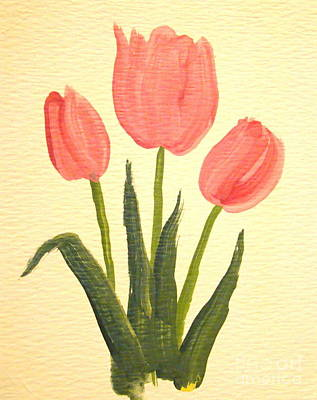 Painting - Pink Tulips by Leea Baltes