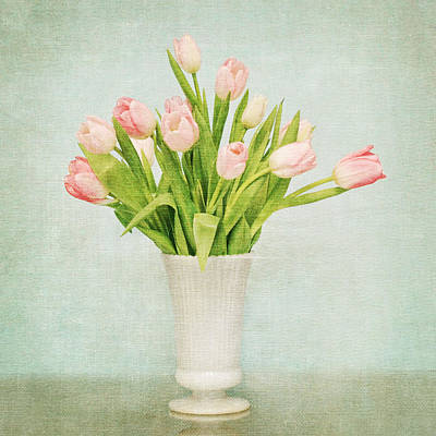 Art Print featuring the photograph Pink Tulips by Mary Hershberger