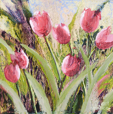 Painting - Pink Tulips by Vic  Mastis