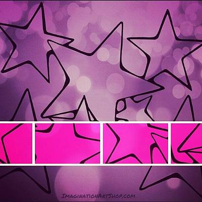 Star Photograph - #pinkstars #lovepink #stars #shimmer by Mandy Shupp