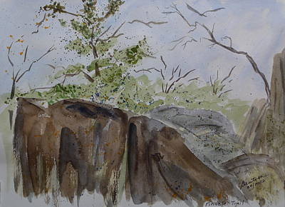 Painting - Pinnacle Trail - Sketch by Joel Deutsch
