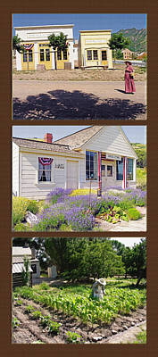 Storefront Mixed Media - Pioneer Series Triptych by Steve Ohlsen