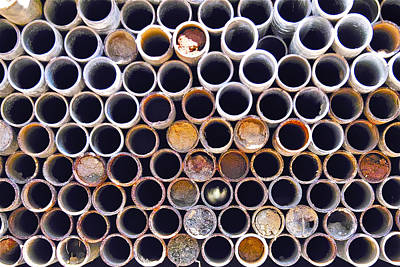 Photograph - Pipe Stack by Jocelyn Kahawai