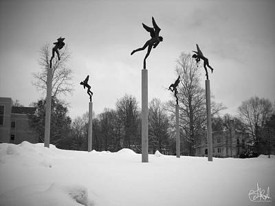 Wall Art - Photograph - Pipers In The Snow by Cate Rubin