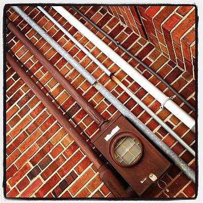 Steampunk Photograph - #pipes #brick #industrial #ikon by IKON Pennie
