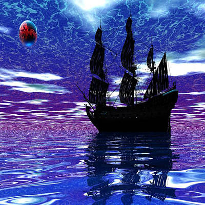 Digital Art - Pirate Ship by Matthew Lacey