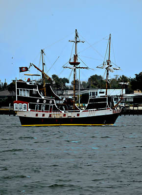 Pirate Ship Of The Matanzas Art Print by DigiArt Diaries by Vicky B Fuller