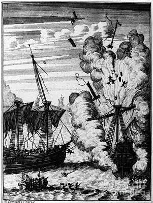 Pirate Ships Art Print by Granger