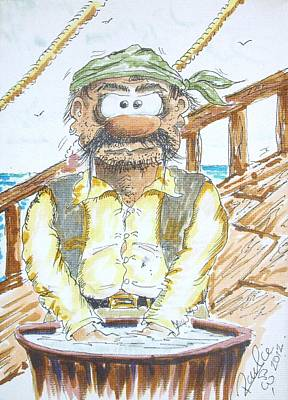 Funnies Drawing - Pirates Of The River Lagan 2 by Paul Chestnutt