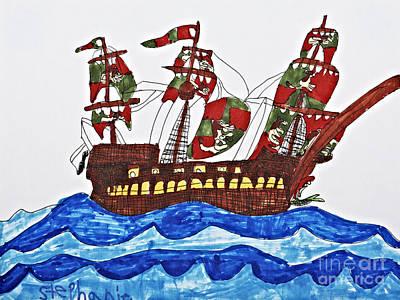 Pirate's Ship Art Print by Stephanie Ward