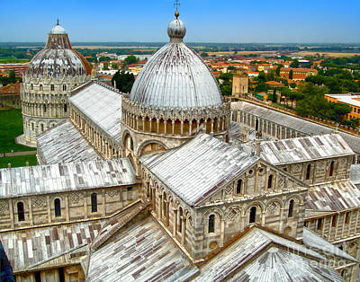 Pisa Cathedral From The Leaning Tower Art Print by Gregory Dyer