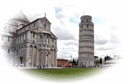 Photograph - Pisa Italy Tower And Cathedral by Allan Rothman