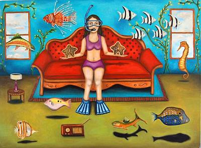 Pisces 3 Art Print by Leah Saulnier The Painting Maniac
