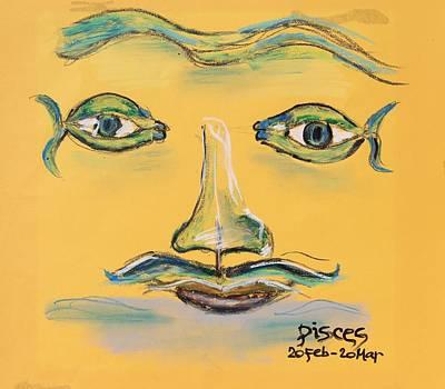 Starsign Painting - Pisces by Sladjana Lazarevic