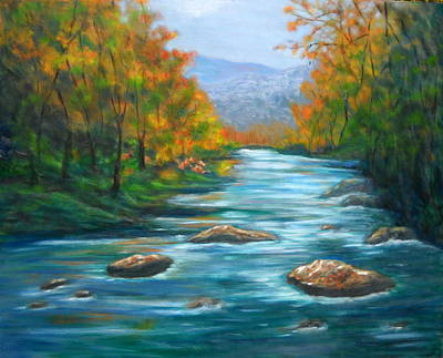 Smokey Mountains Painting - Pisgah Forest 1 by Sandy Hemmer