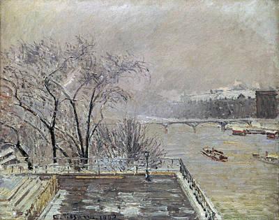 Pissarro: Louvre, 1902 Art Print by Granger