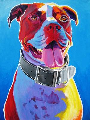 Pit Bull - Buster Art Print by Alicia VanNoy Call
