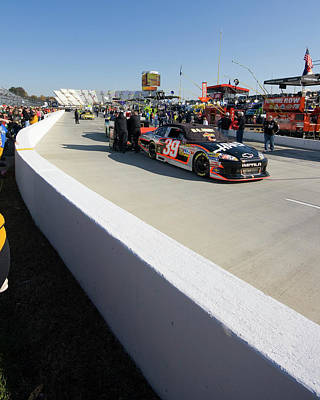 Photograph - Pit Road Martinsville Speedway by Alan Raasch