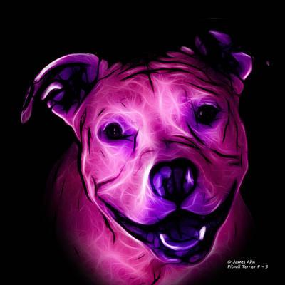 Digital Art - Pitbull Terrier - F - S - Bb - Magenta by James Ahn