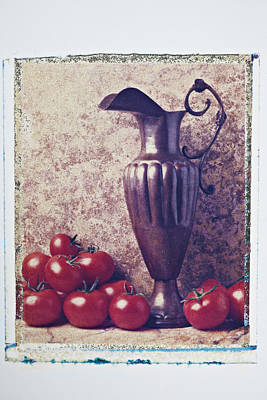 Photograph - Pitcher And Tomatoes by Garry Gay