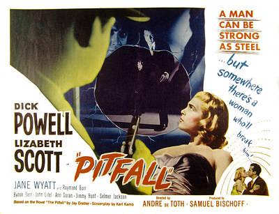 Posth Photograph - Pitfall, Dick Powell, Lizabeth Scott by Everett