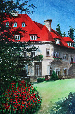 Painting - Pittock Mansion - Portland Oregon by Kerri Ligatich