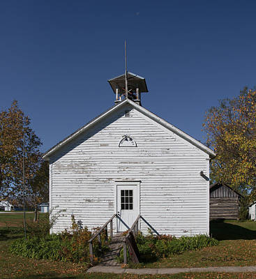 Photograph - Pittsburg Dist. No. 8 Schoolhouse by Edward Peterson