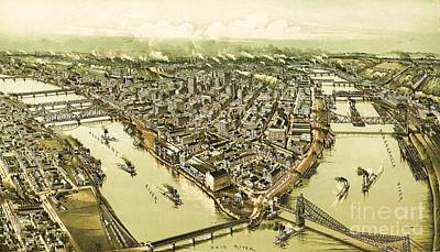 Pittsburg Pennsylvania Art Print by Pg Reproductions