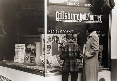 Advocacy Photograph - Pittsburgh Courier Storefront by Everett