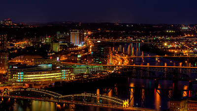 Pittsburgh From Across The Monongahela River Art Print by David Hahn