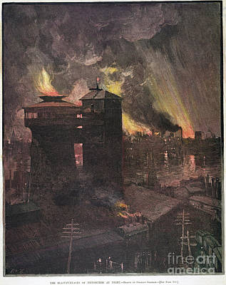 Pittsburgh: Furnaces, 1885 Art Print by Granger