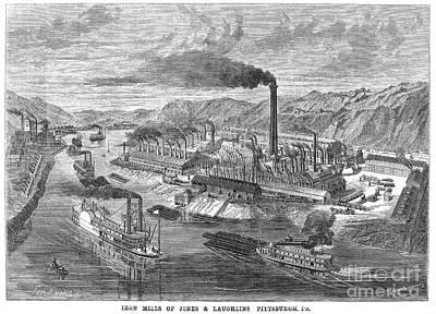 Pittsburgh: Iron Mills Art Print by Granger